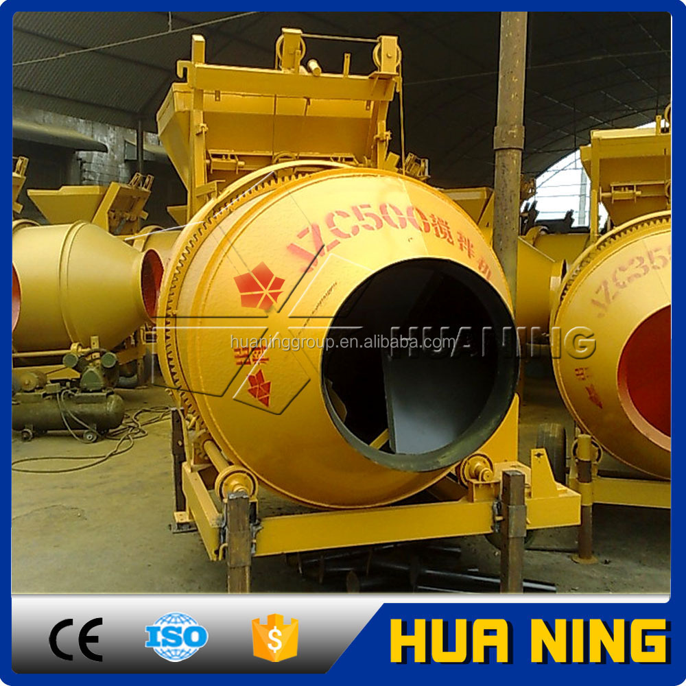 High Mixing Quality Electric Portable 500 liter Concrete Mixer with Lift in Korea