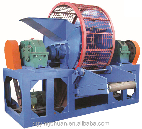 ZPS-800 rubber crusher used tire shredder machine tire recycling shredder
