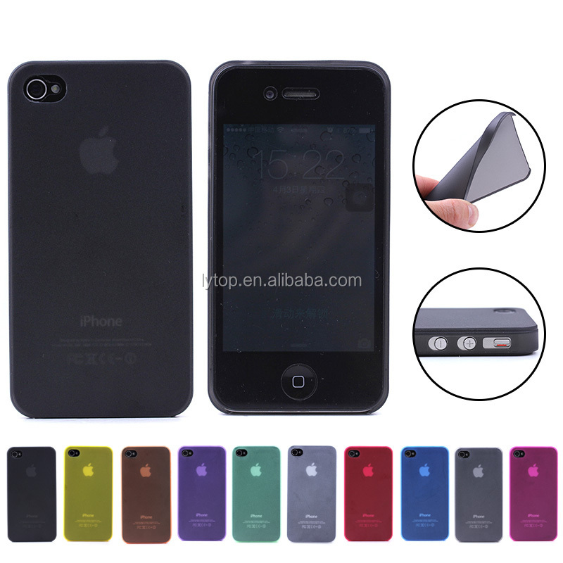 For iPhone 4 4S 5S Hard Phone Case Cover, For iPhone 4 Ultra Thin 0.3mm PC Mobile Cases