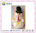 Christmas singing snowman soft toy