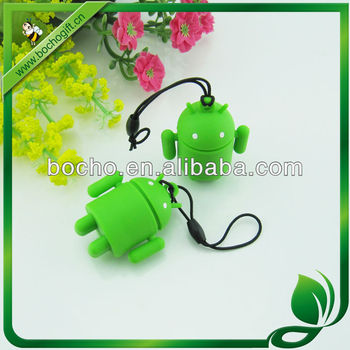 3D Robot shaped cell phone chain