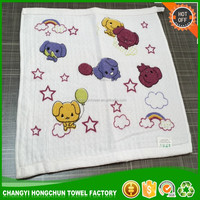 Terry Hooded Baby Bath towel animal printed woven baby towel