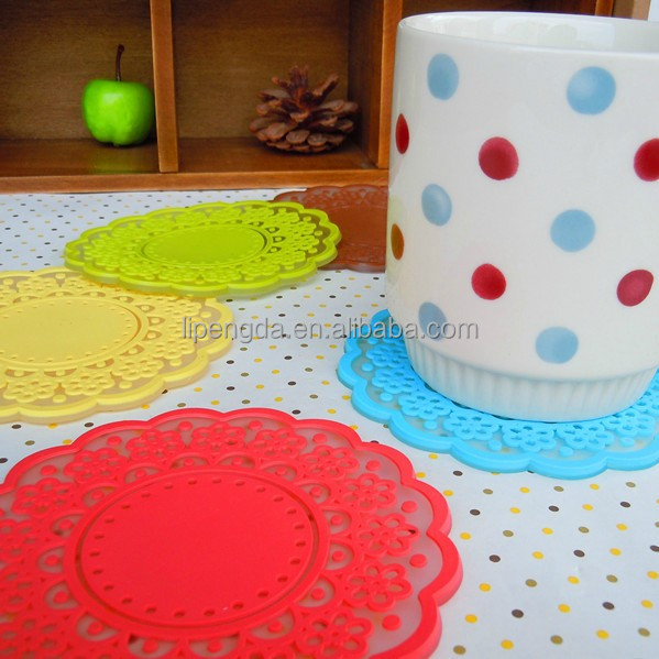 full table pad/anti slip dining table mat plate heat-proof silicone mat