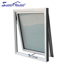 Shanghai Factory Australia AS2047 Standard Awning Window Double Hollow Glass Aluminium Awning Window