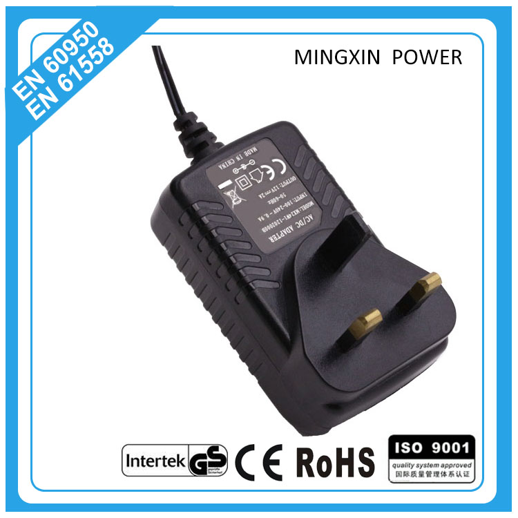100-240v 0.6a 50-60hz ce lvd emc gs cb certified 24v1a 12v2a 9v2.5a 5v3adc adapter 24w eu power adapter