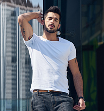 Fashion men custom blank plain t shirt in high quality