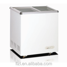 210L glass door refrigerator freezer, chest freezer with two compartments/covers