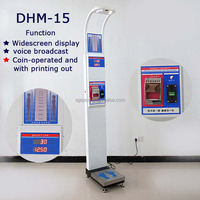 coin operated and printing out ultrasonic electronic height and weight BMI measurement machine