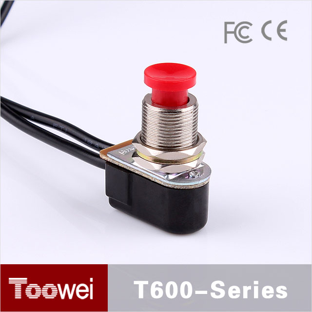 Special Push Button Type 3A/6A 12mm SPDT electrical waterproof toggle switch