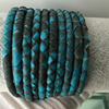 2016 New Idea High Quality Turquoise Python Leather Skin Cord Snake Python Leather 4,5,6 mm Thailand Leather for Bracelet