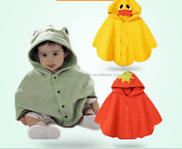 New arrival cute yellow dark frog strawberry infant cloak with pure cotton lining baby cape
