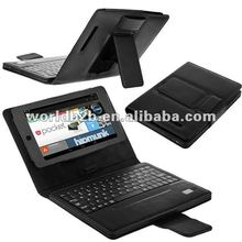 Bluetooth Keyboard with PU Leather case for Google Nexus 7 inch Tab.