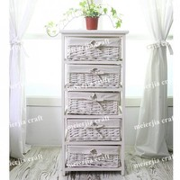 multi wicker drawer luxury wooden bedroom cabinet