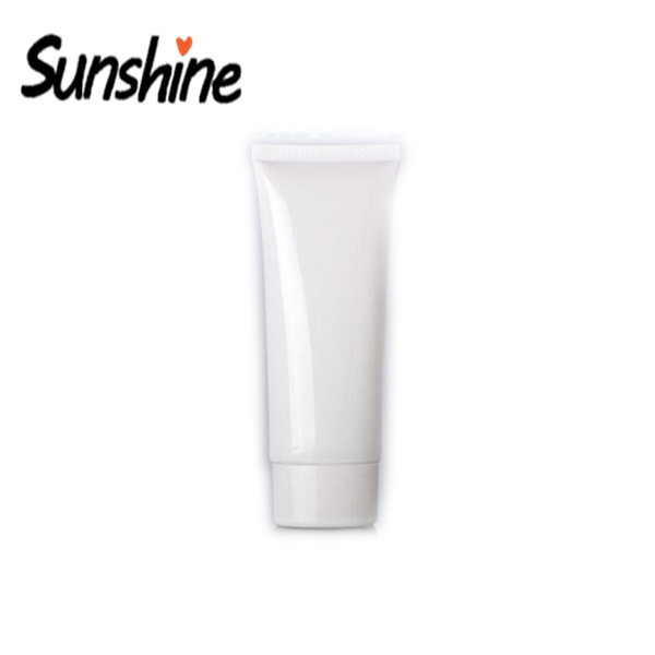 Newest Design White Flat Bpa Free Plastic Cosmetic Packaging <strong>Tube</strong>