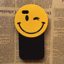 Alibaba Suppliers Sexy Red Mouth Smiling Face Silicone Mobile Phone Case for iphone 6 6 Plus