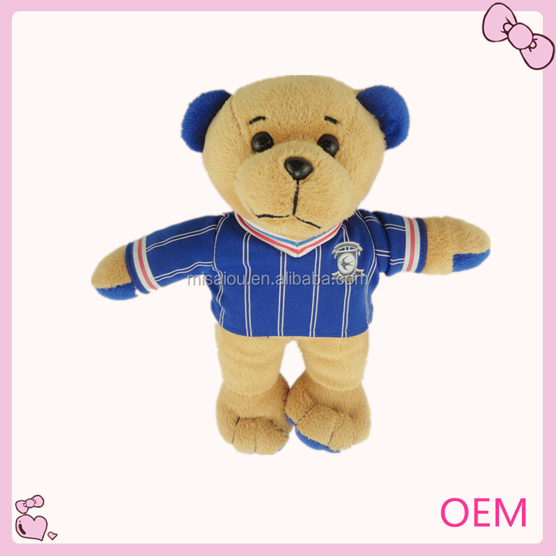 plush sports player teddy bear wearing cloth toys