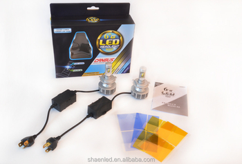 H4H/L 30W 3000LM 6500K Match 4 colors pad pasting P HILIPS+C REE Chip Car All in One Headlamp Kit With CANBUS