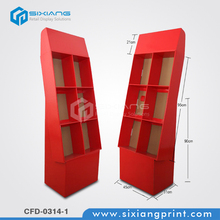 6 Cells Corrugated Cardboard Book Display Stands