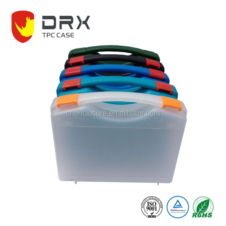 Simple Hard Injection Molded Plastic Tool Carrying Packing Case with Customized foam