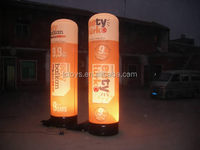 Factory Directly Selling Inflatable lamp post with custom printing for nigh promotion or event with blower