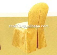 wholesale chair cover gold factory price 100% polyester material for hotel
