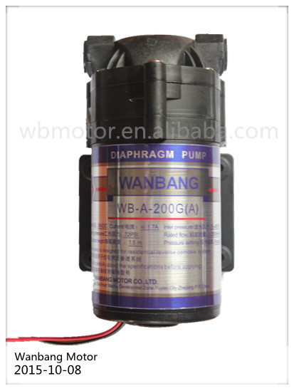 Diaphragm ro water booster pump