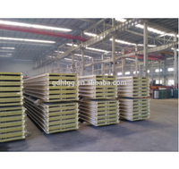 Light weight heat insulation material hidden type rock wool corrugated sandwich panel