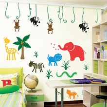 Custom high quality home decoration large jungle safari animal print wallpaper
