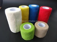 Medical supply veterinary products self-adhesive elastic cohesive bandage
