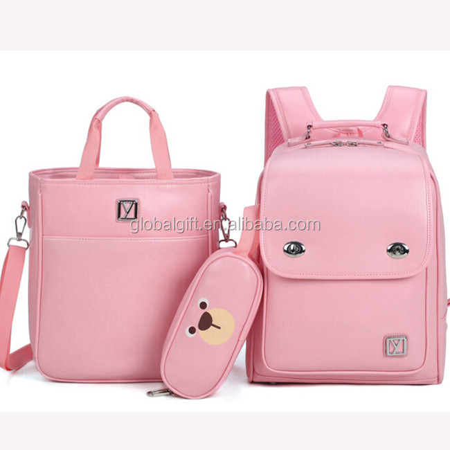 China Newest Fashinable Primary School Student Cute Girls Product Japan Style Waterproof Bagpack Sets School Bag Pack