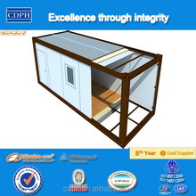 Flat pack prefabricated portable buildings used as office and accommodation