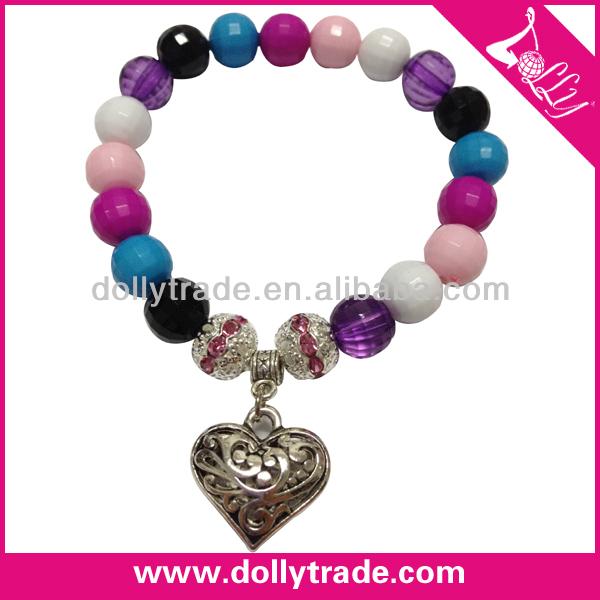 Fashion DIY Plastic Elastic Beads Bracelet Charms Bangles and Bracelet Jewelry