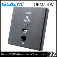 in wall socket <strong>wifi</strong> ap with usb charger for hotel