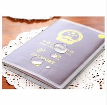 Custom Waterproof Scrub Transparent Passport Cover Protective Case PVC Card Case for Travel
