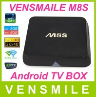 Factory Vensmile m8s Quad-Coreott amlogic mx firmware android box tv m8 s82 amlogic s812 android tv box m8s