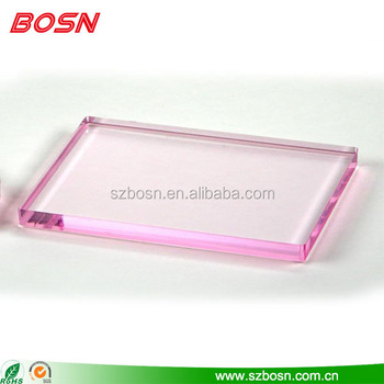 manufactory customized clear colored acrylic blocks for craft