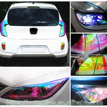 Factory Supply New Style Chameleon Tint Film Car Blue Reflective Light Sticker Changing Colors