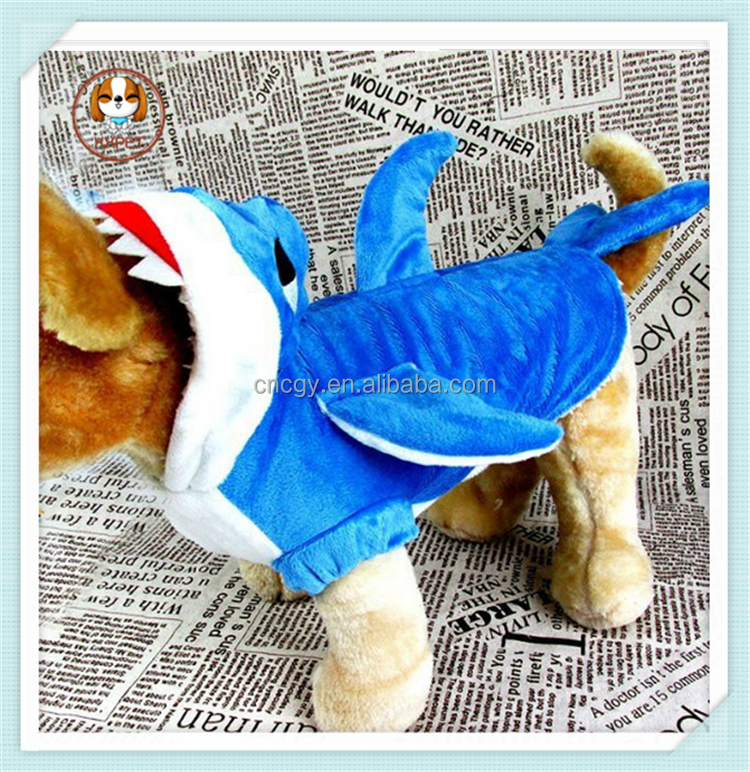 2015 Halloween Christmas Animal cute shark cosplay costume dog pet clothes for dog