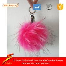 STABILE Professional big faux fur pom key chain With Long term Service