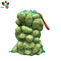PP plastic leno mesh bag with customizable label for packing potato onion