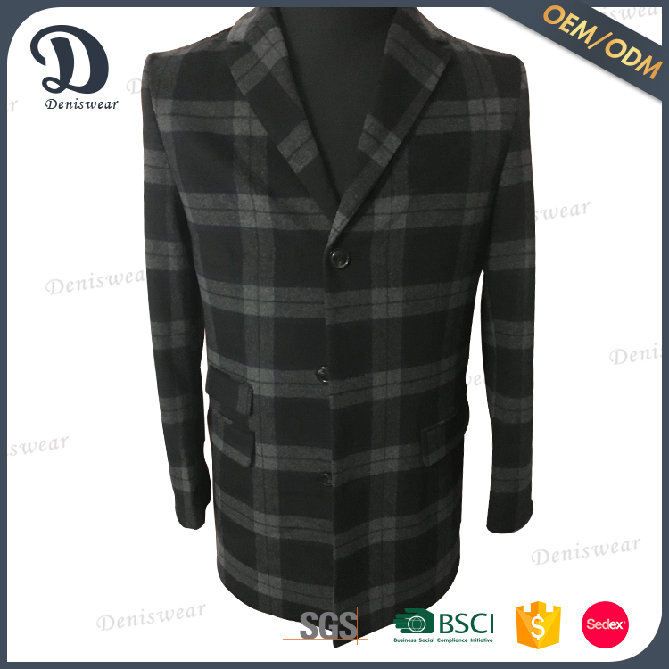 Custom clothing all kinds of clothing fabrics trench grey coat men