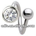 bezel cup hybrid spiral twisters,navel piercing jewelry
