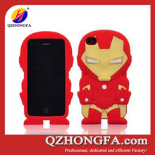 3D Stylish Iron Man Soft Silicone Case Cover For iPhone 4/4s