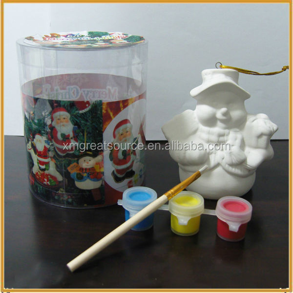snowman design ceramic diy painting kits