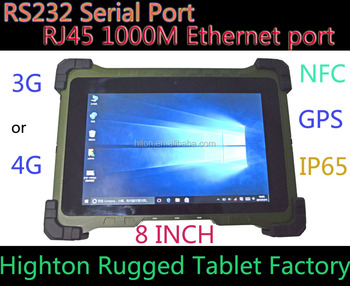 Cheapest Factory RS232 Serial Port , RJ45 Ethernet port Rugged tablets waterproof handheld device
