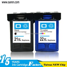 New Compatible Ink Cartridge for Hp Deskjet 21 22 Printer Ink Refill chip reset to full level