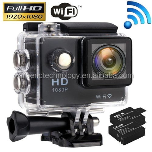 "1080P 2.0"" WiFi Diving 30M Action Camera Waterproof Sport DV Video Camcorder"