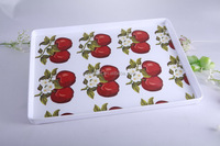 100% melamine flower printed plastic decorative serving tray