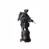 Factory custom handmade carved resin army souvenir
