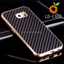 Stock cheap new arrival best quality phone case cover 100% glossy real carbon fiber for Samsung edge
